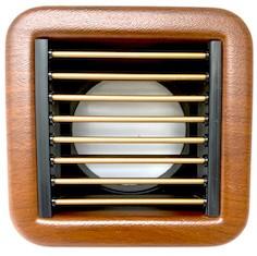 Zuluftgitter Kunststoff Mahagoni-Optik 100x100mm (incl. Adapterbox)