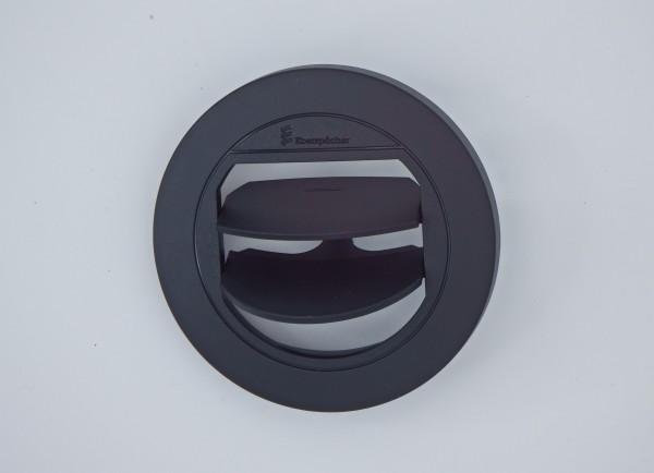 Blende Luftaustritt Rund verschließbar (schwarz) für Schlauchanschluss Ø 60mm