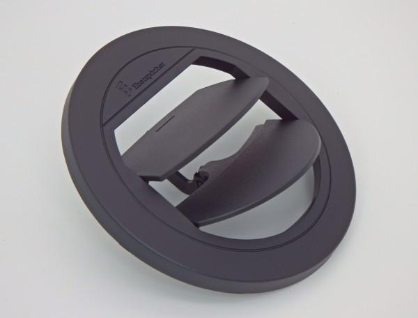 Blende Luftaustritt Rund verschließbar (schwarz) für Schlauchanschluss Ø 75 & 90mm