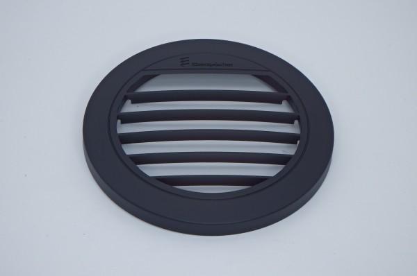 Blende Luftaustritt Rund offen 30° (schwarz) für Schlauchanschluss Ø 75 & 90mm