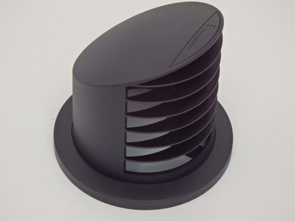 Ausströmer stehend 90° (schwarz) für Schlauchanschluss Ø 75 & 90mm