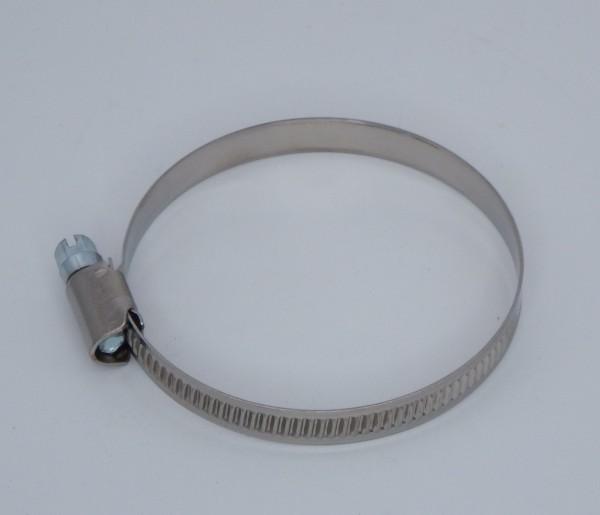 Schlauchschelle Edelstahl - 9mm breit für Warmluftschlauch Ø 75mm