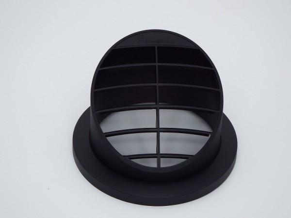 Ausströmer stehend 30° (schwarz) für Schlauchanschluss Ø 75 & 90mm