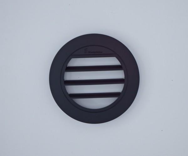 Blende Luftaustritt Rund offen 30° (schwarz) für Schlauchanschluss Ø 60mm