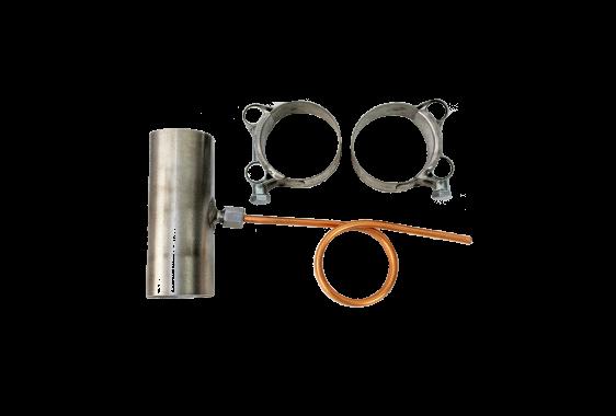 Kondensatabscheider-Set gerade für Ø 38mm Abgasrohr