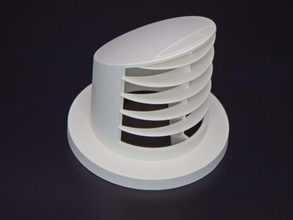 Ausströmer stehend 90° hoch (weiß) für Schlauchanschluss Ø 60mm