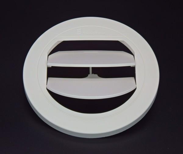 Blende Luftaustritt Rund verschließbar (weiß) für Schlauchanschluss Ø 75 & 90mm