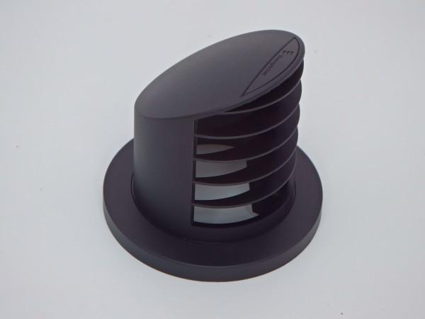 Ausströmer stehend 90° hoch (schwarz) für Schlauchanschluss Ø 60mm