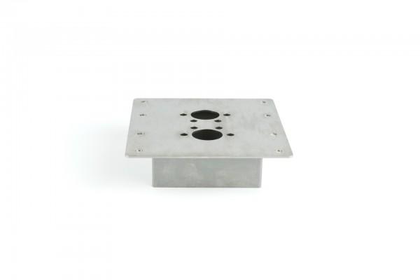 Boden - Montageblech 150x160 40mm 2D/ 4D