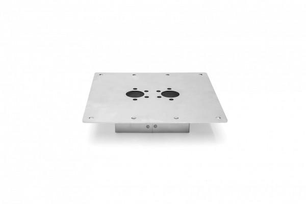 Boden - Montageblech 200x200 40mm 2D/ 4D