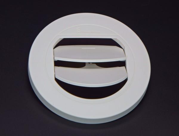 Blende Luftaustritt Rund verschließbar (weiß) für Schlauchanschluss Ø 60mm