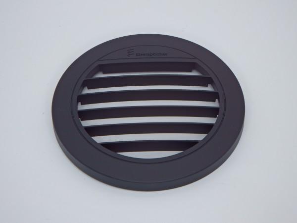 Blende Luftaustritt Rund offen 0° (schwarz) für Schlauchanschluss Ø 75 & 90mm