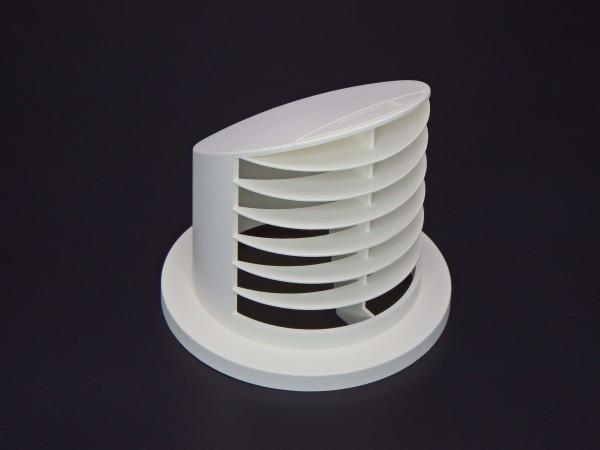 Ausströmer stehend 90° (weiß) für Schlauchanschluss Ø 75 & 90mm