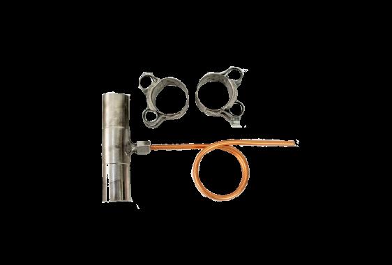 Kondensatabscheider-Set gerade für Ø 24mm Abgasrohr